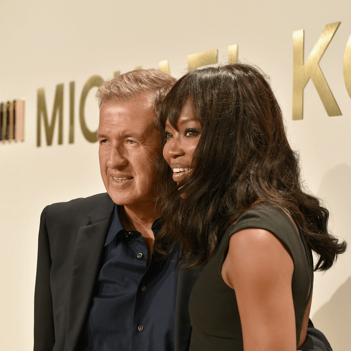 Naomi Campbell and Mario Testino at Michael Kors Gold fragrance launch