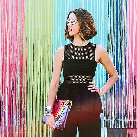 Carrie Colbert in Self Portrait jumpsuit