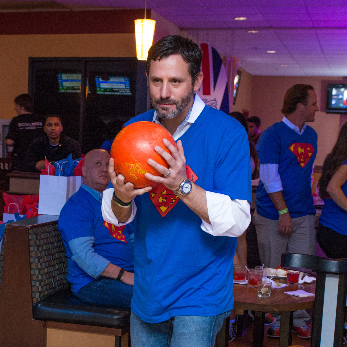 Chester Pitts bowling event Brad Marks