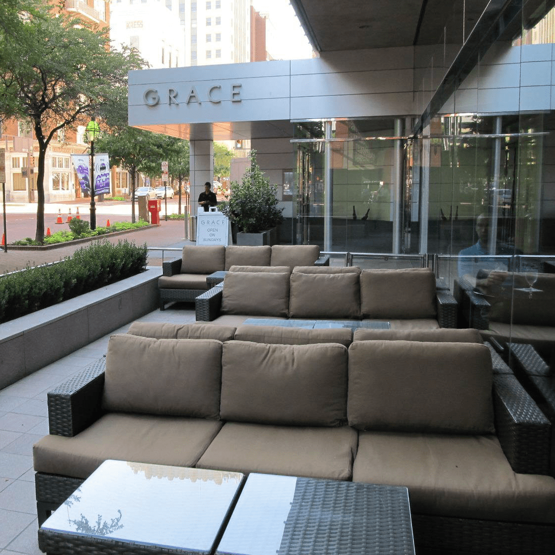 Grace restaurant patio in Fort Worth