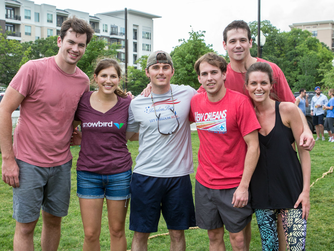 Ben Johnson, Ashley Kisko, Jack Gannon, J.W. Mulkin, Deuce Robertson and Joanna Robertson