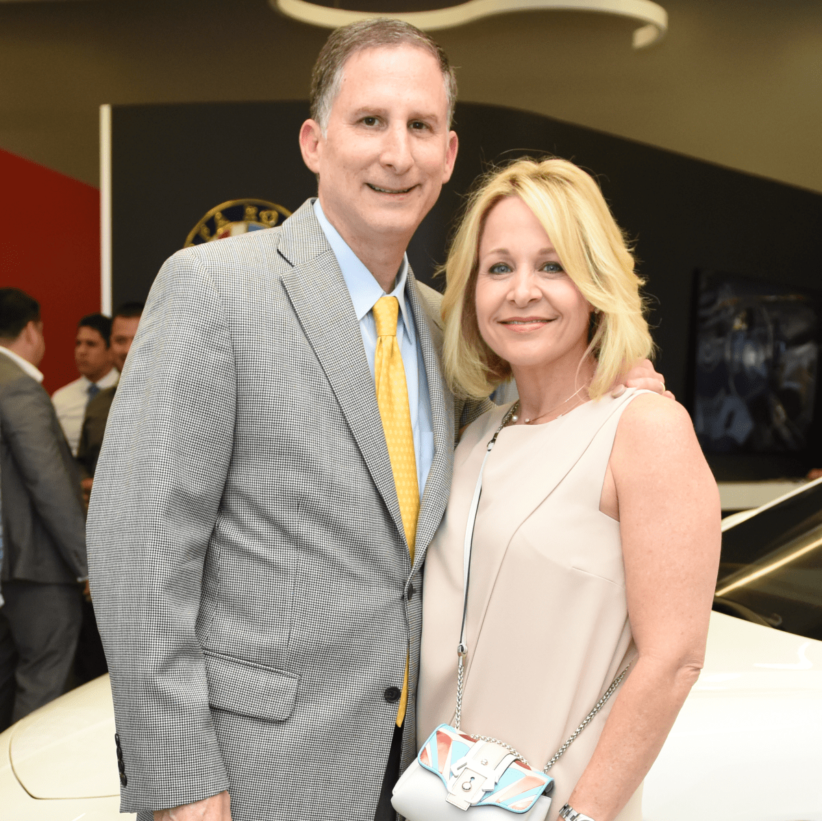 News, Shelby, Helfman Maserati opening, June 2015, Steven and Sandi Wolf