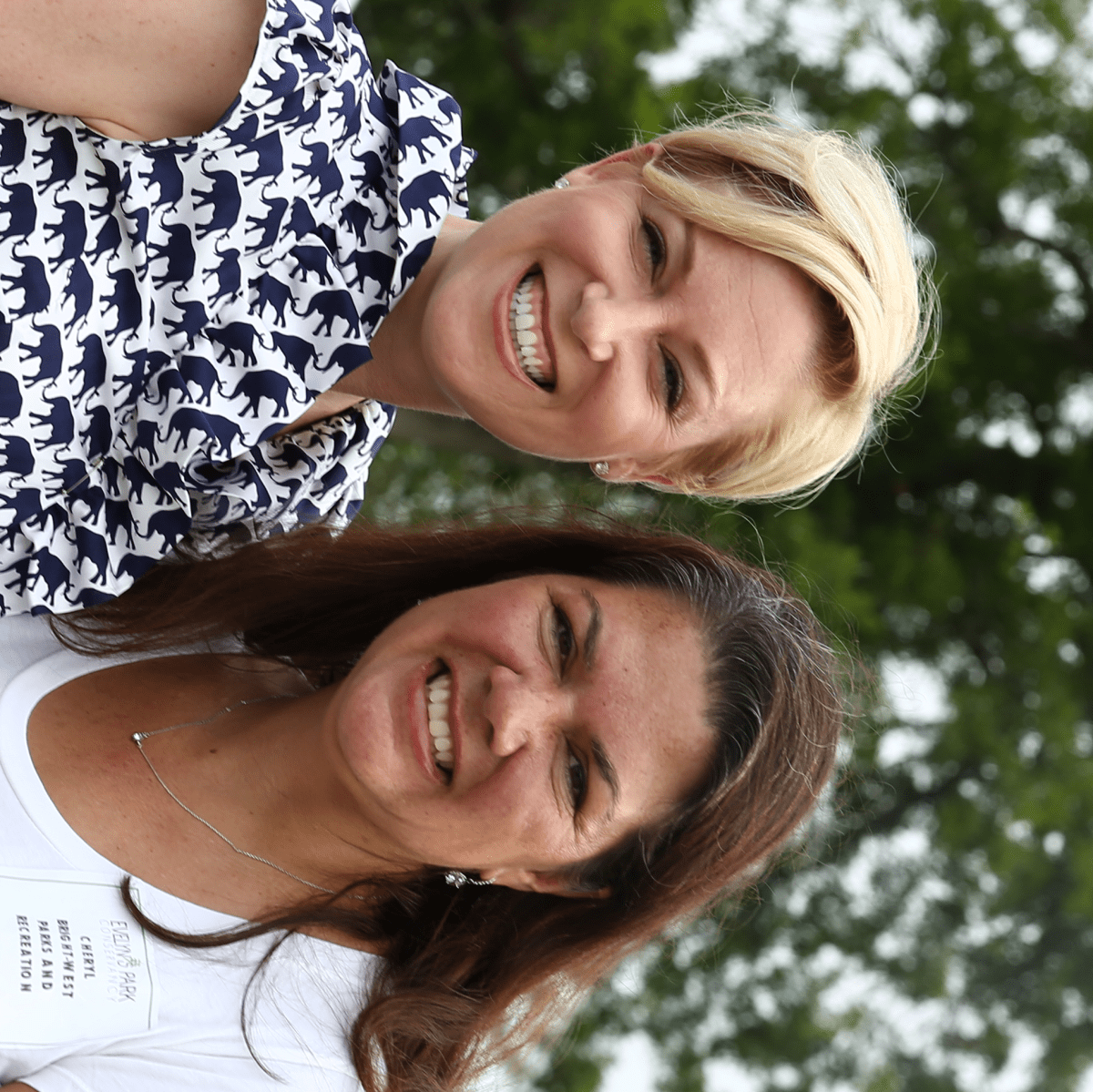 News, Shelby, Evelyn's Park Groundbreaking, june 2015, State Rep Sarah Davis-Cheryl Bright-West_Photo