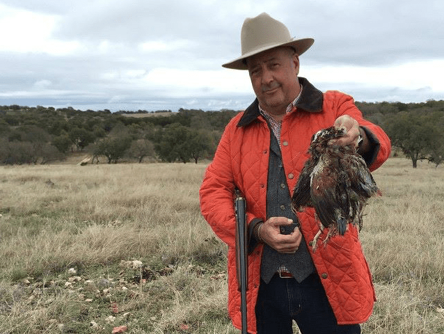 Andrew Zimmern_Bizarre Foods_Broken Arrow Ranch_quail hunting_2015