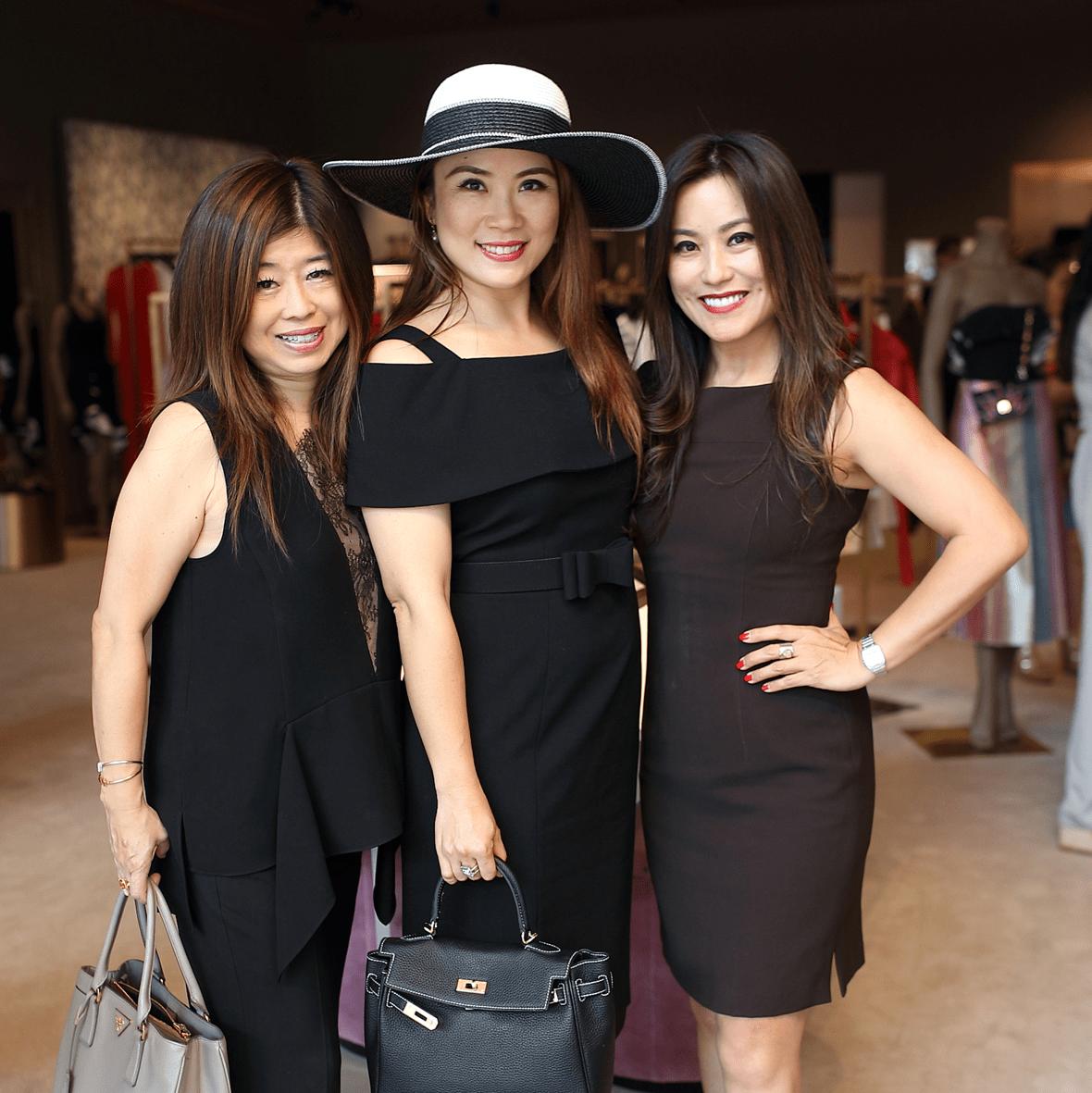 Rose Chen, Christina Zhou, Gina Li at The Webster party