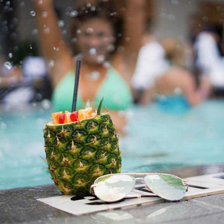 JW Marriott Austin pool drink
