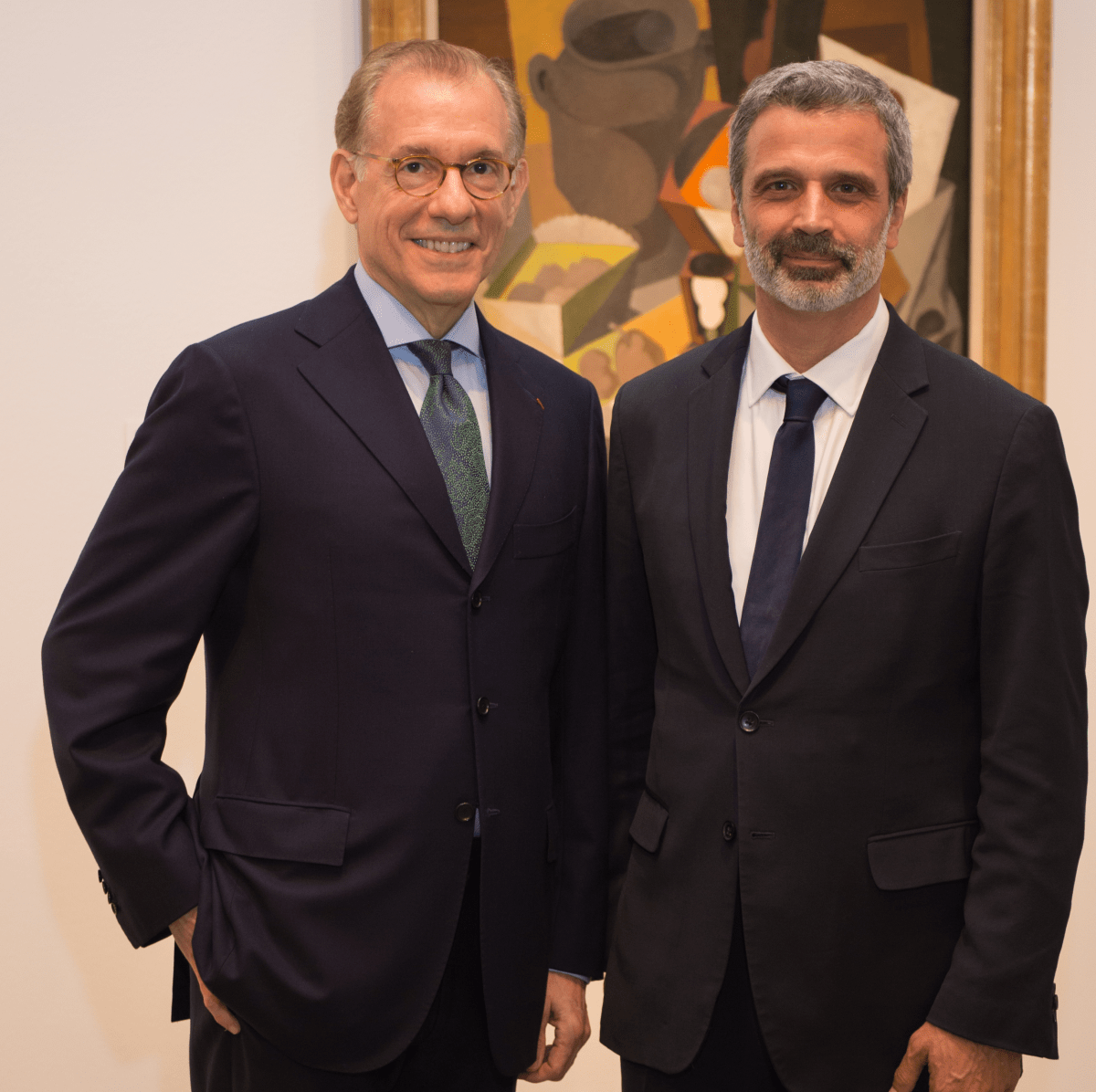Gary Tinterow, Miguel Fernandez Feliz at MFAH Mexican Modernism dinner