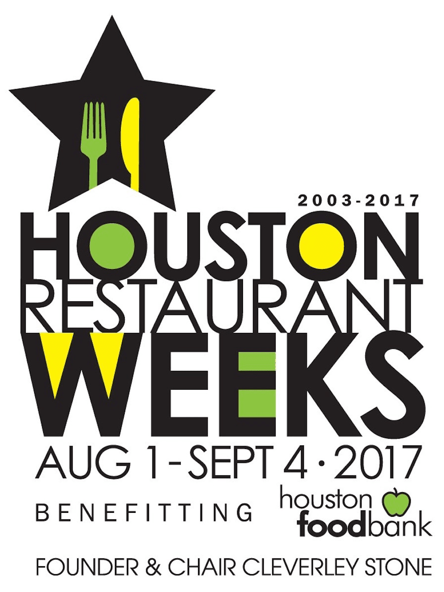 Houston Restaurant Weeks HRW 2017 logo Cleverley Stone