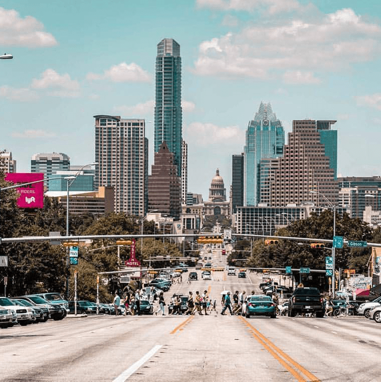South Congress Avenue Soco Austin skyline