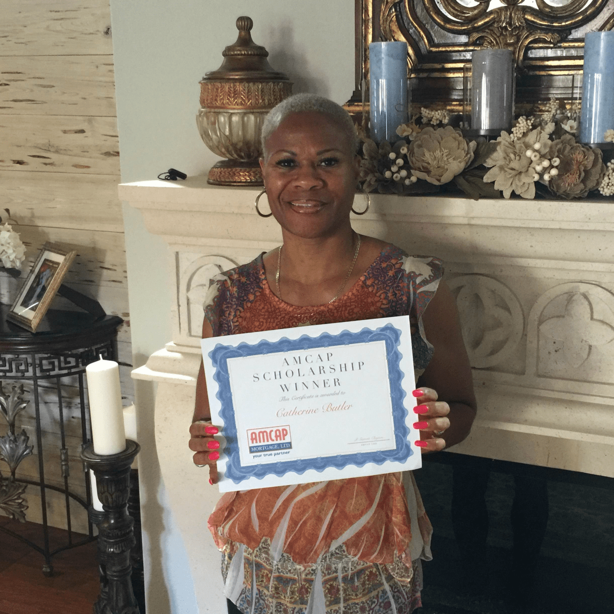AmCap scholarship winner Catherine Butler