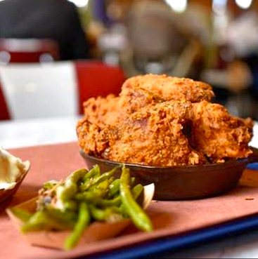 Houston, Killen's BBQ, July 2015, fried chicken
