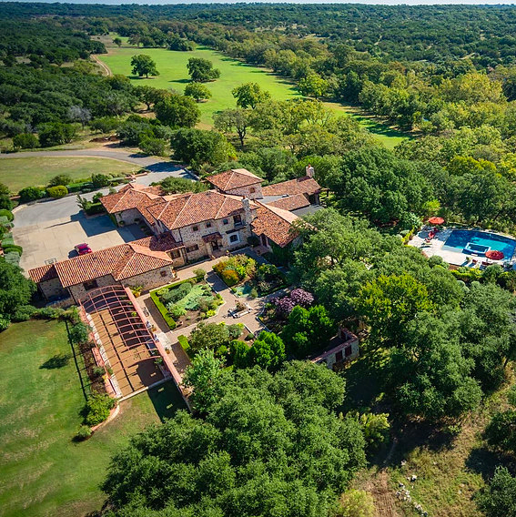 Mandola's estate in Austin aerial view