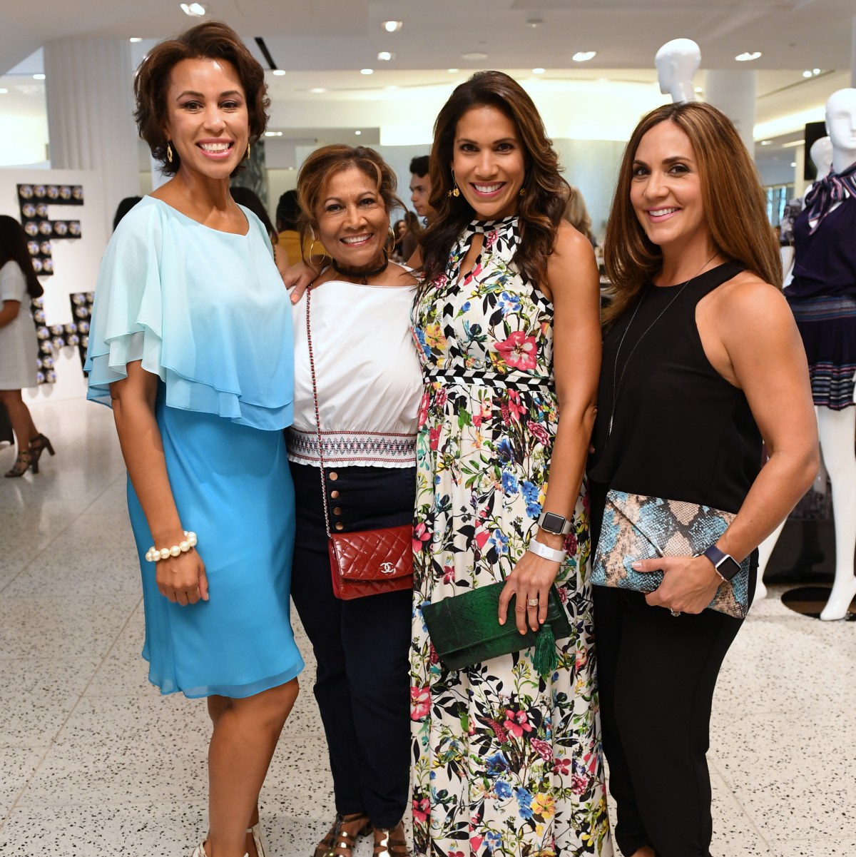 Houston, Women of Wardrobe Summer Soiree, August 2017, Dr. Crystal Wright, Monica McNeill, Rachel McNeill, Courtney Zavala