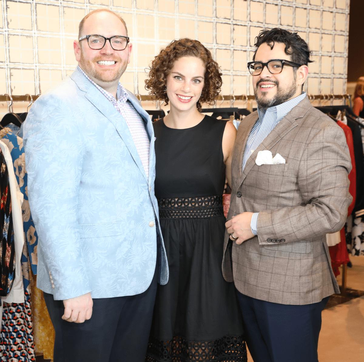 Darrin Davis, Emily Schrieber, Mario Emundsson at Houston Grand Opera party at The Webster