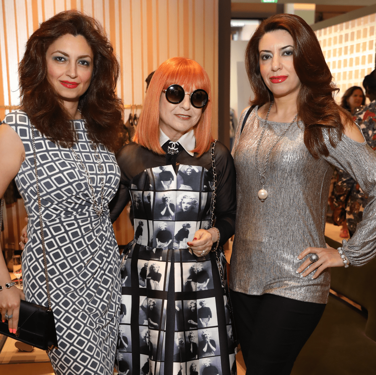 Mahzad Mohajer, Elina Htun, Dr. Parissa Mohajer at Houston Grand Opera party at The Webster