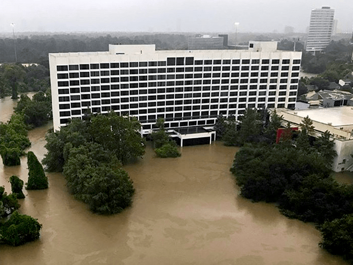 Houston, Hurricane Harvey, flood photos, Omni Hotel