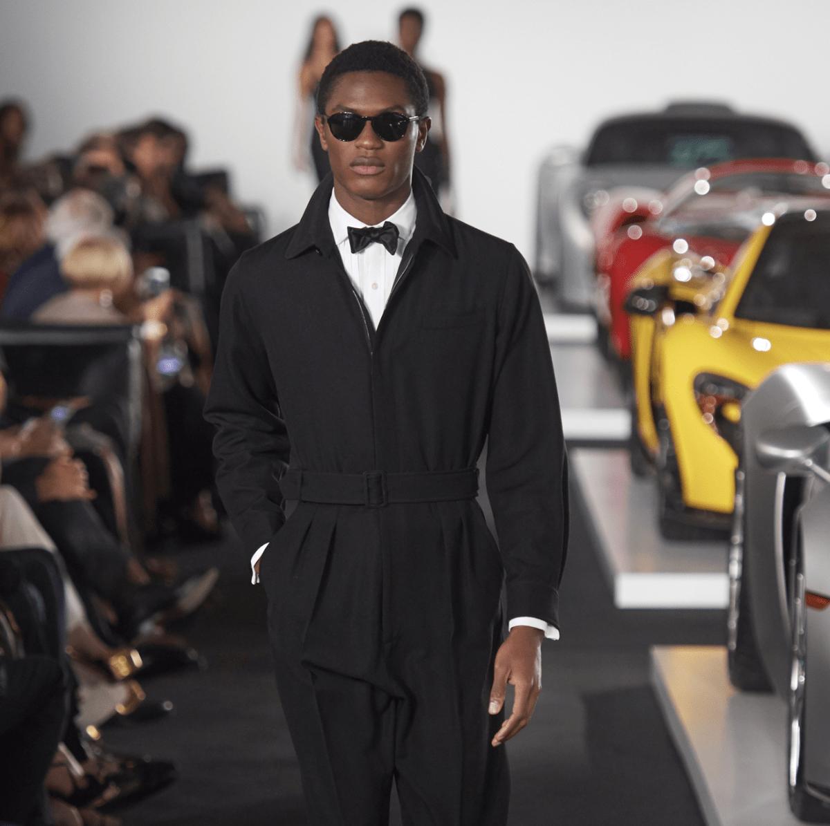 Ralph Lauren fall 2017 men's tuxedo jumpsuit