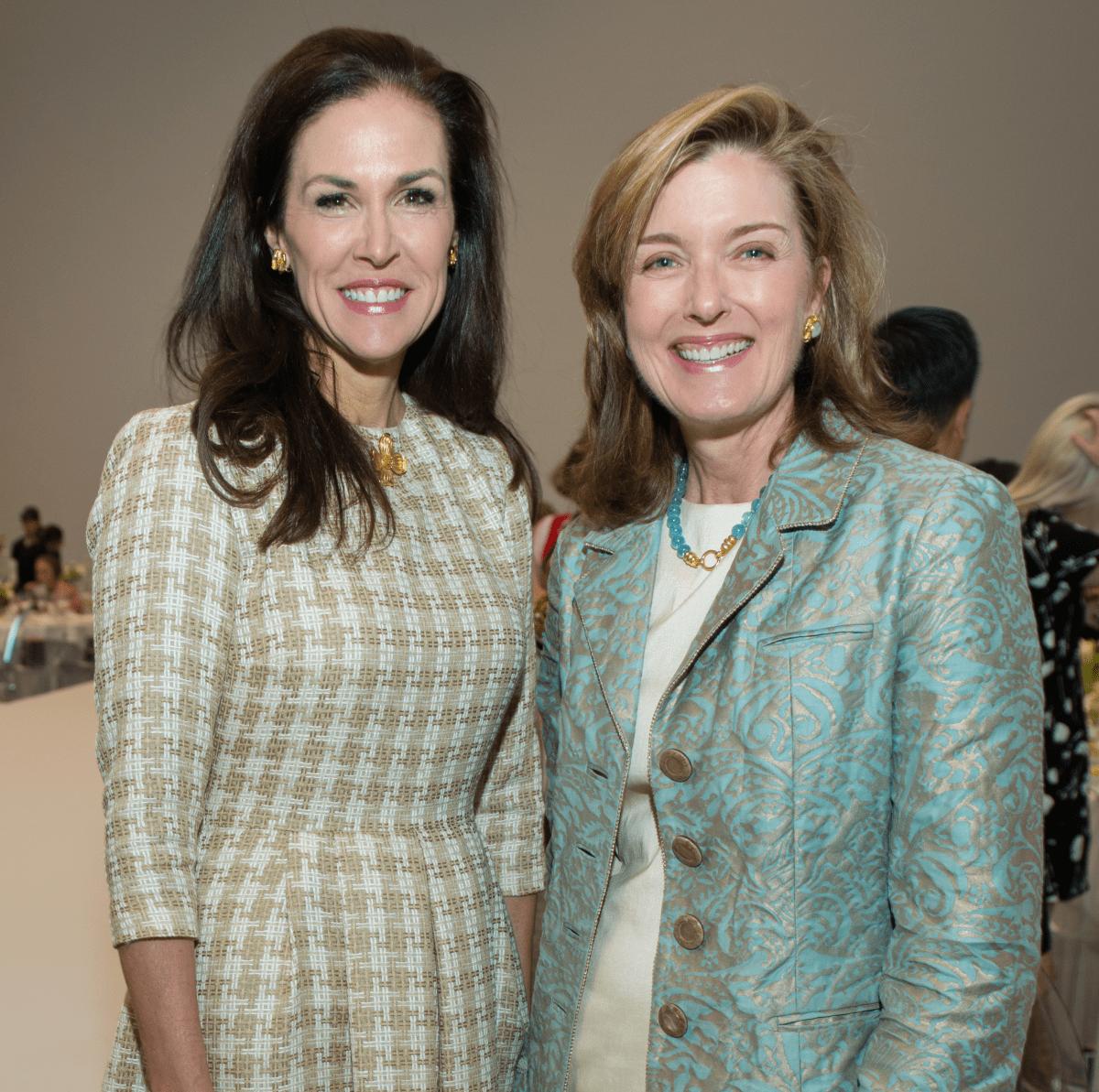 Kathleen Pressler, Carrie Pepi at Oscar de la Renta fashion show at MFAH