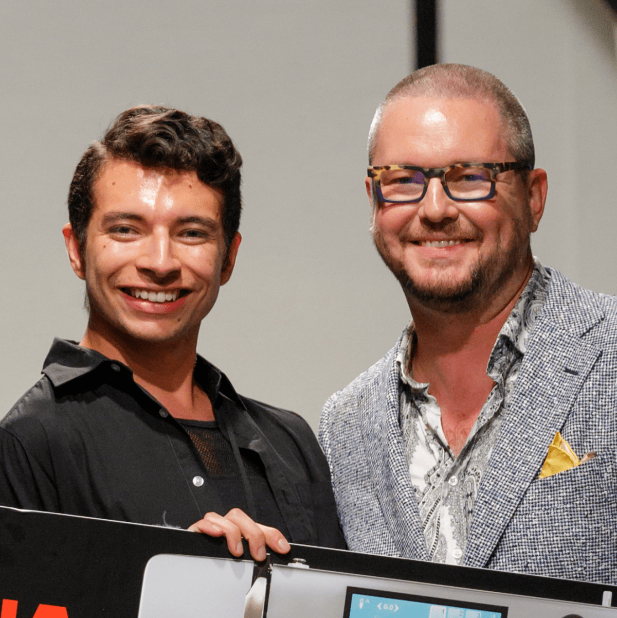 Alan Gonzalez of Alantude wins the Bernina Fashion Fund award at Fashion X Houston