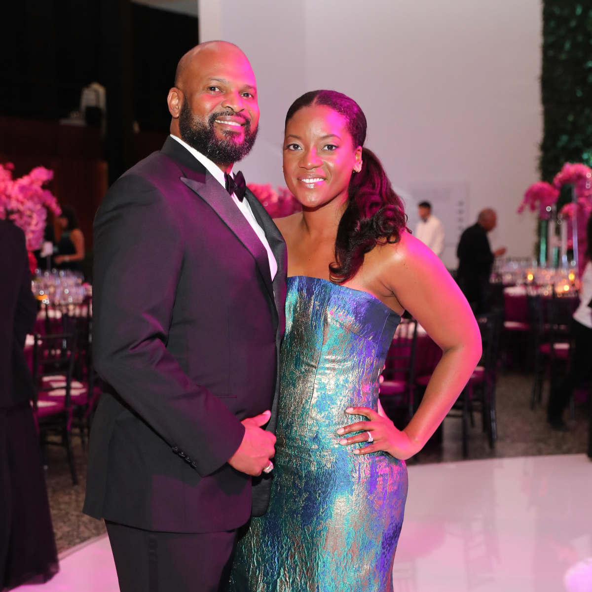 Martin Scruggs and Sahadat Kemi Nurudeen at Museum of Fine Arts Gala