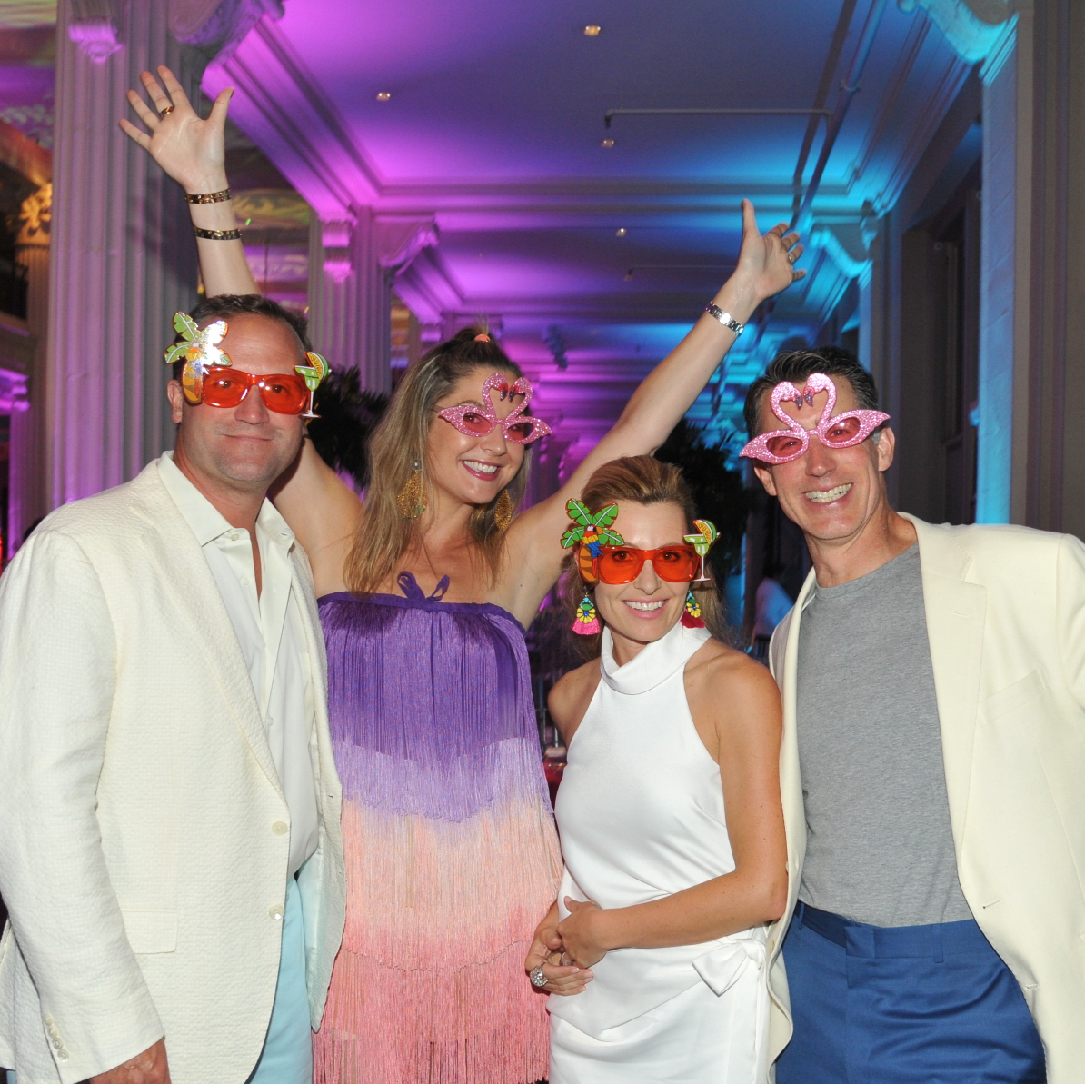 Josh and Lisa Oren, Carolyn and Garry Tanner at Miami Vice Children's Museum Gala