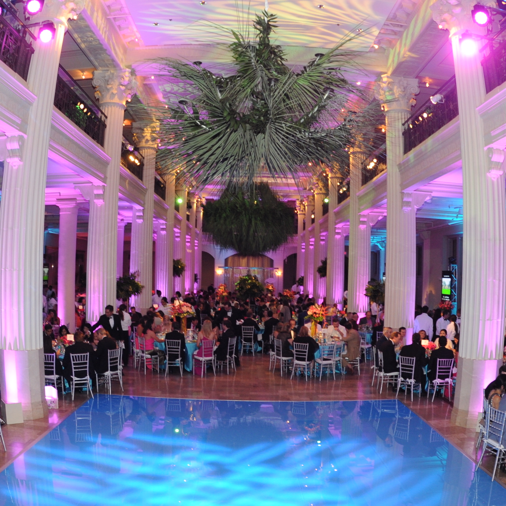 Decor and Dance Floor at Miami Vice Children's Museum Gala
