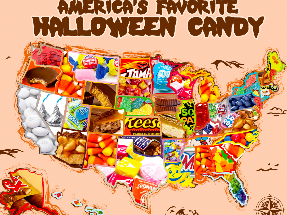 the most popular halloween candy in u.s. and no. 1 in texas