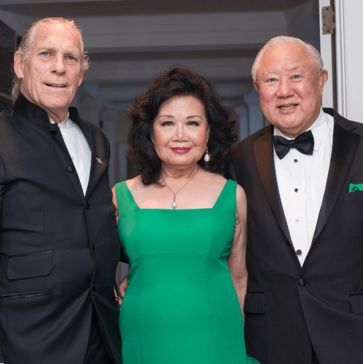 Trammell S. Crow, Mary Ku, Dr. Charles Ku, Jade Ball 2017