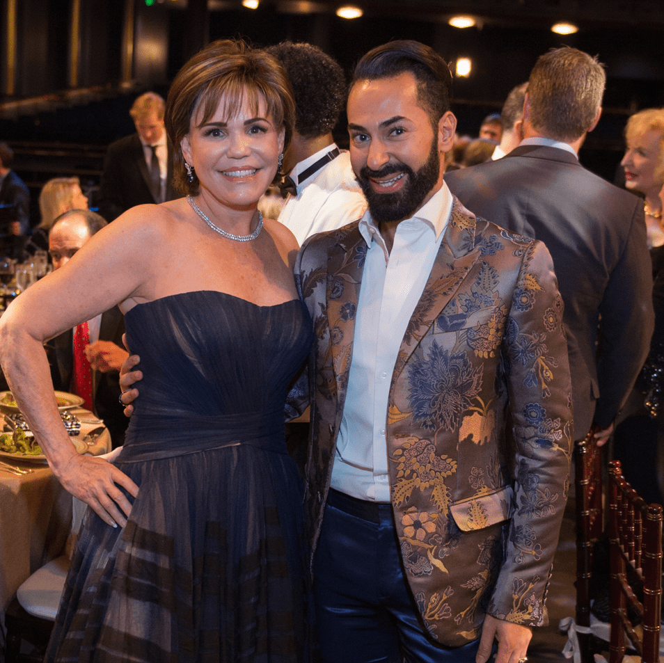 Hallie Vanderhider, Fady Armanious at Houston Ballet Opening Night Dinner
