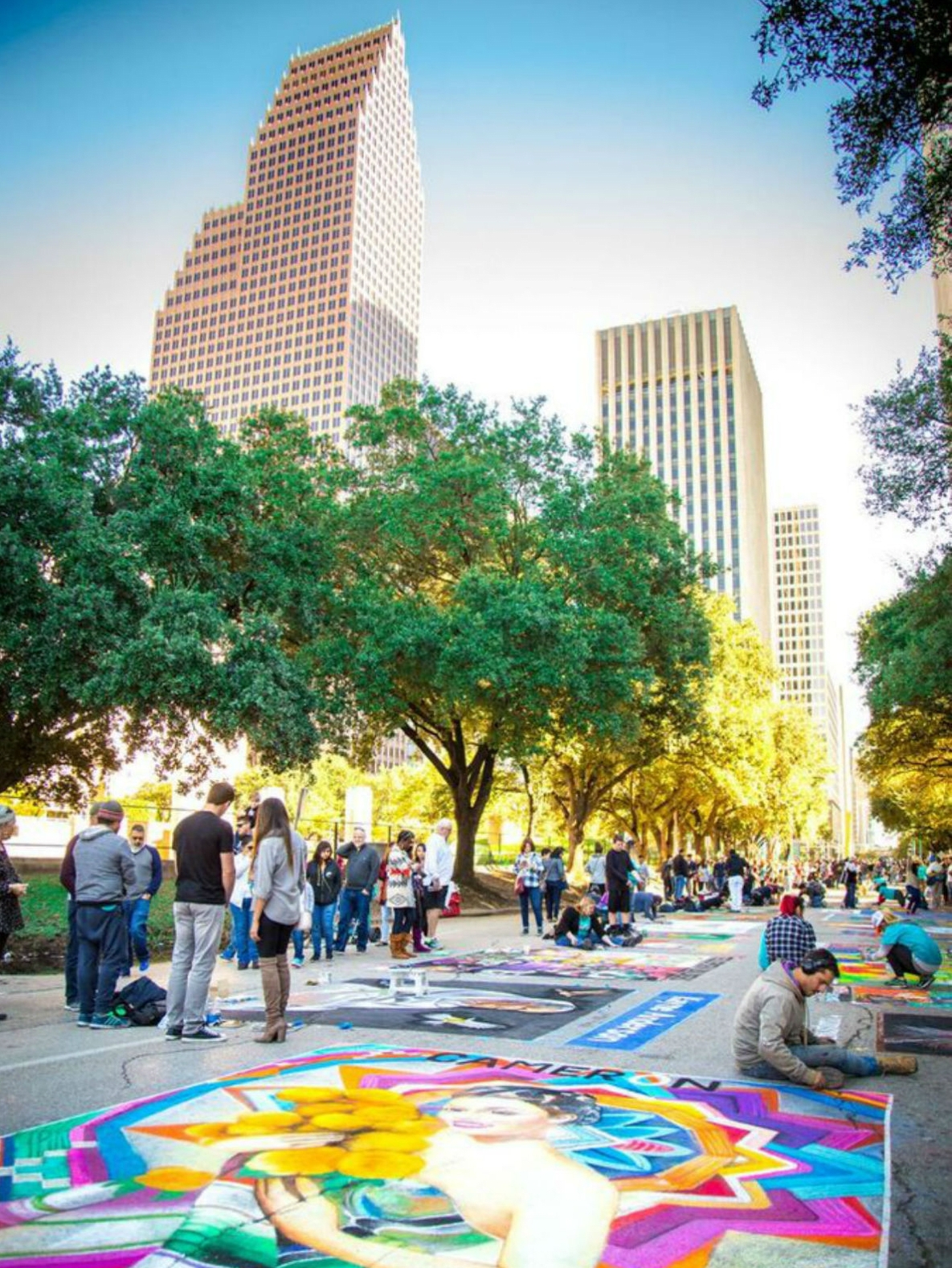 The Center for Hearing and Speech presents Houston Via Colori® Street Painting Festival