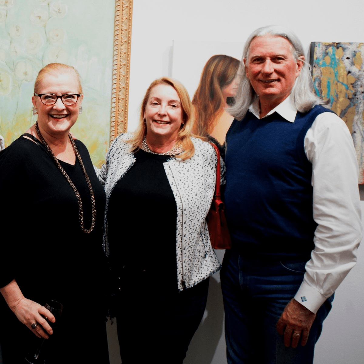 Steven Wagner, Sue Payne, Christine and Michael Holland at Art on the Avenue 2017