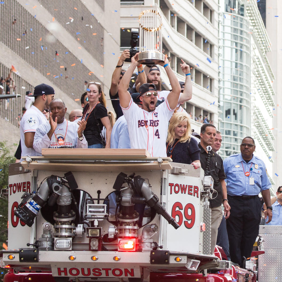 Astros World Series victory parade and rally, George Springer