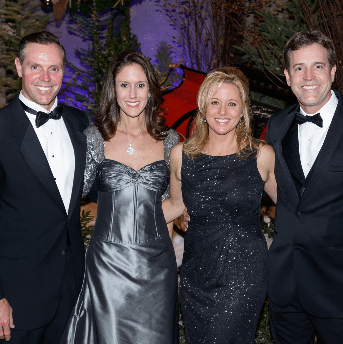 Mark Robbins, Katie Robbins, Kristi Meinecke, Chris Meinecke, Crystal Charity Ball 2017