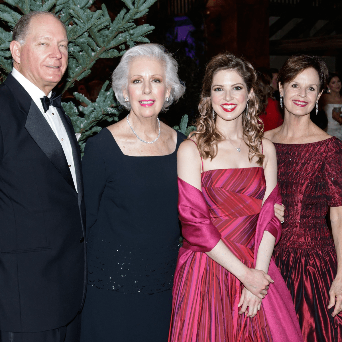 John Maxwell, Susan Maxwell, Mary Clare Maxwell, Nancy Knox, Crystal Charity Ball 2017