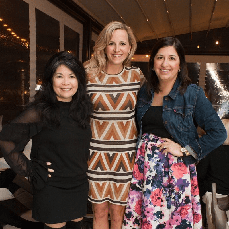 Nancy Gopez, Kristin Sanger, Heather Street Baker, Partners Card 2018