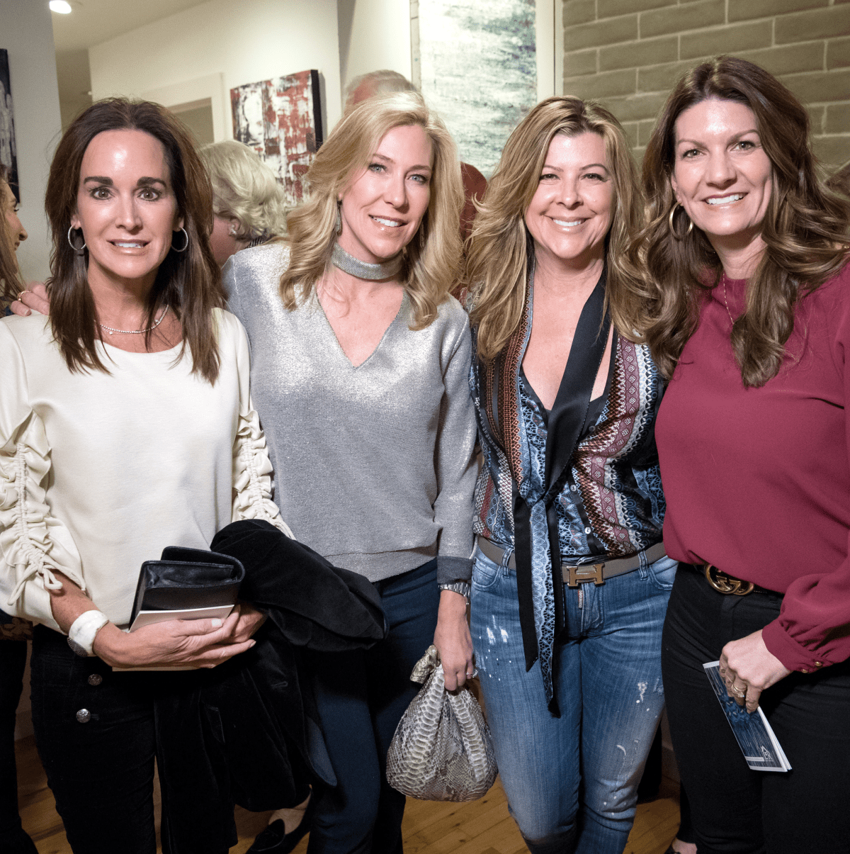 Dallas, LR Art House opening, January 2018, Christy Crenshaw, Allison Benners, Deanna Mahowald, Jennifer Newhoff