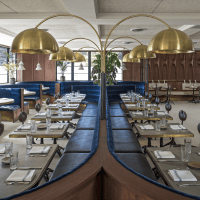 Eberly dining room restaurant Austin