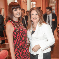 Co-chair Stacey Henderson and Deborah Colton at Art of Conversation