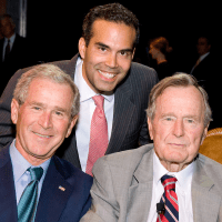 News_Bush literacy event_George W. Bush_George P. Bush_George H.W. Bush