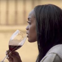The Bachelorette Rachel Lindsay drinking wine