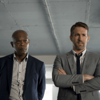 Samuel L. Jackson and Ryan Reynolds in The Hitman's Bodyguard