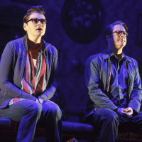 Kate Shindle and Robert Petkoff in Fun Home national tour