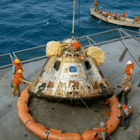 "Space Center Houston presents ""Destination Moon: The Apollo 11 Mission"" opening day"