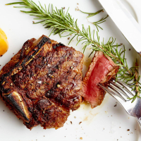 Steak at Al Biernat's restaurant in Dallas
