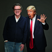 Kurt Andersen and Alec Baldwin (as Donald Trump)