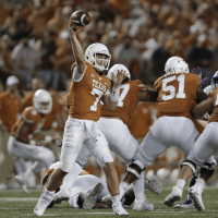 UT football Shane Buechele against Kansas