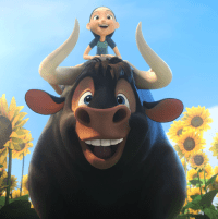 John Cena and Lily Day in Ferdinand