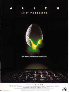 movie poster for Alien by Ridley Scott