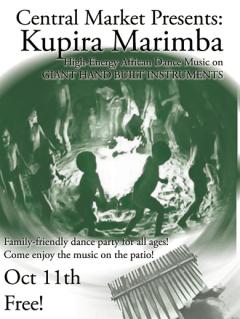 Kupira Marimba at Central Market flyer