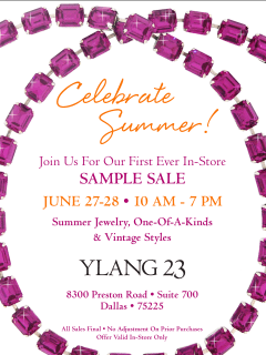 ylang 23 sample sale